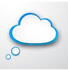 Paper white-blue cloud vector
