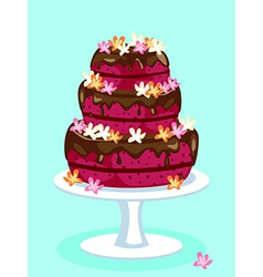 Red velvet cake card vector