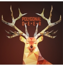 Abstract polygonal deer vector image