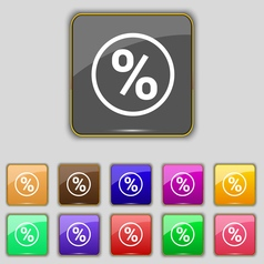Percentage discount icon sign set with eleven vector