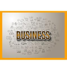 Business success with doodle design style vector
