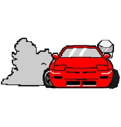 8bit s13cartoon vector