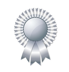 Silver rosette vector