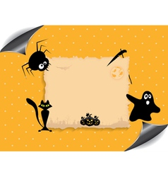 Abstract background for Halloween vector image