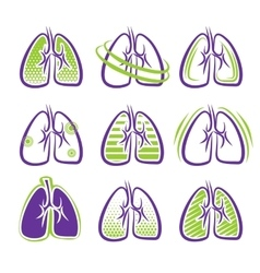 All about lungs vector