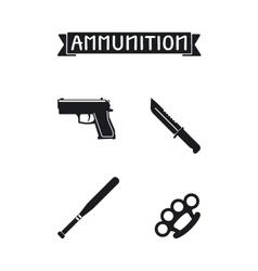 Ammunition icons set vector image