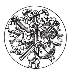 big medallion symbol is a symbol of a violin vector image vector image
