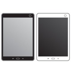 Black and white tablet vector image vector image