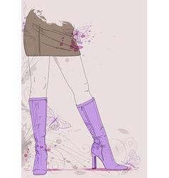 boots butterflies vector image vector image