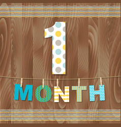 card 1 month vector image