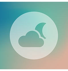 Cloud Moon transparent icon Meteorology Weather vector image