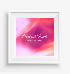 Colorful paint background in realistic frame vector