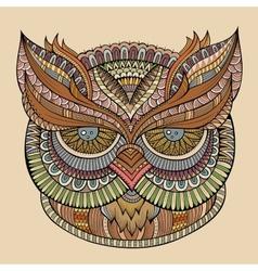 Decorative ornamental Owl head vector image