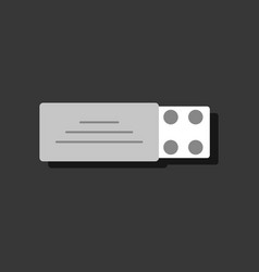 Flat icon design collection pill pack in sticker vector