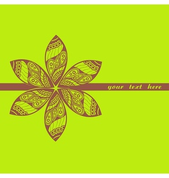 Floral greeting card with place for your text vector image