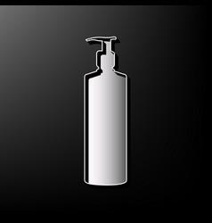Gel foam or liquid soap dispenser pump plastic vector