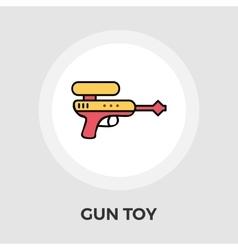 Gun Toy Flat Icon vector image