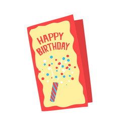 happy birthday card cartoon vector image vector image