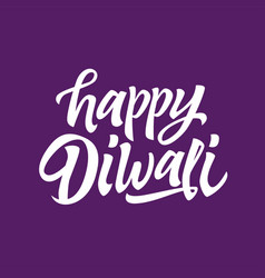 happy diwali - hand drawn brush pen vector image
