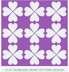Heart seamless background pattern flat design vector image