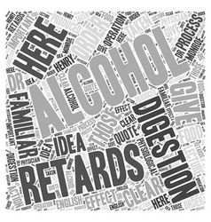 HOW ALCOHOL RETARDS DIGESTION Word Cloud Concept vector image vector image