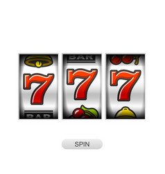 Lucky sevens jackpot slot machine vector
