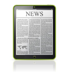 news on generic tablet pc vector image vector image