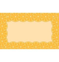 Orange lime frame vector image