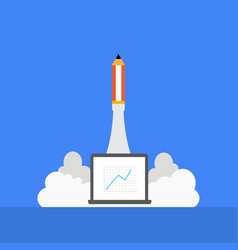 Pencil rocket launching with vector
