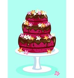 Red velvet cake card vector
