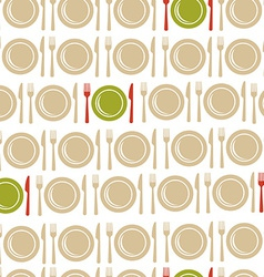 Restaurant seamless pattern background vector image vector image