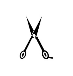 scissors icon black sign on vector image vector image