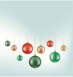 set of hunging ball decoration vector image vector image