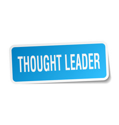 Thought leader square sticker on white vector