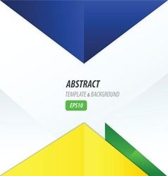 Triangle design yellow blue green vector
