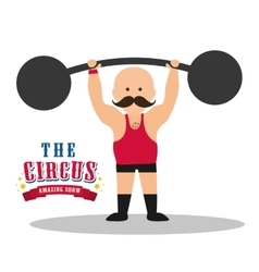 Weight lifting icon circus and carnival design vector