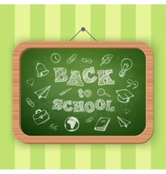 Back to school greeting text vector