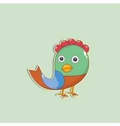 Color christmas bird vector