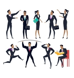 Set of business people characters in flat design vector