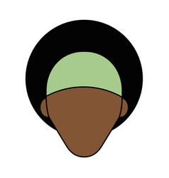 Colorful caricature image faceless front view vector