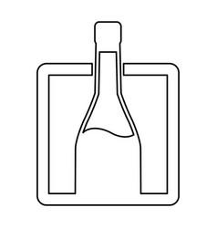 bottle wine drink alcoholic label line image vector image