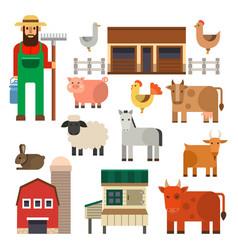 farm icon nature food vector image