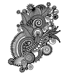 ornate flower design vector image