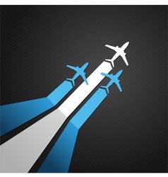 Argentina plane vector image