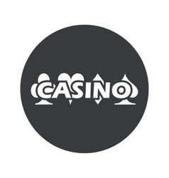 Monochrome round casino icon vector