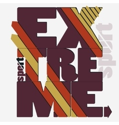 Extreme sport typography label vector