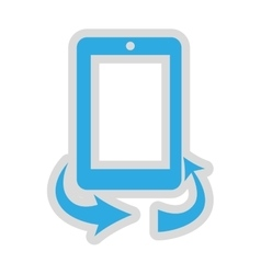 Rotate screen button isolated icon design vector