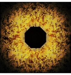 abstract golden dots on black background vector image