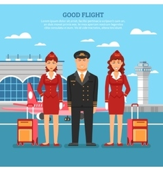 Airport employees poster vector
