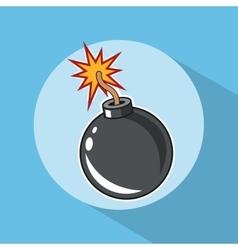 Bomb explosion pop art comic design vector